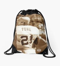 Terry Puhl #21 Drawstring Bag