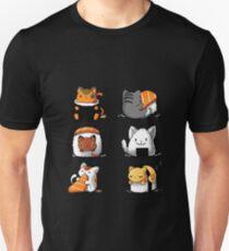 Camiseta ajustada Lindos gatos de sushi
