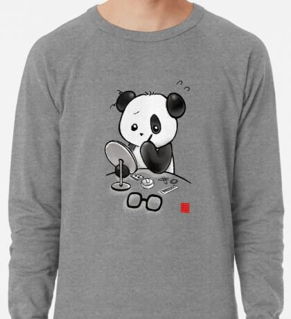 Panda Makeup Lightweight Sweatshirt
