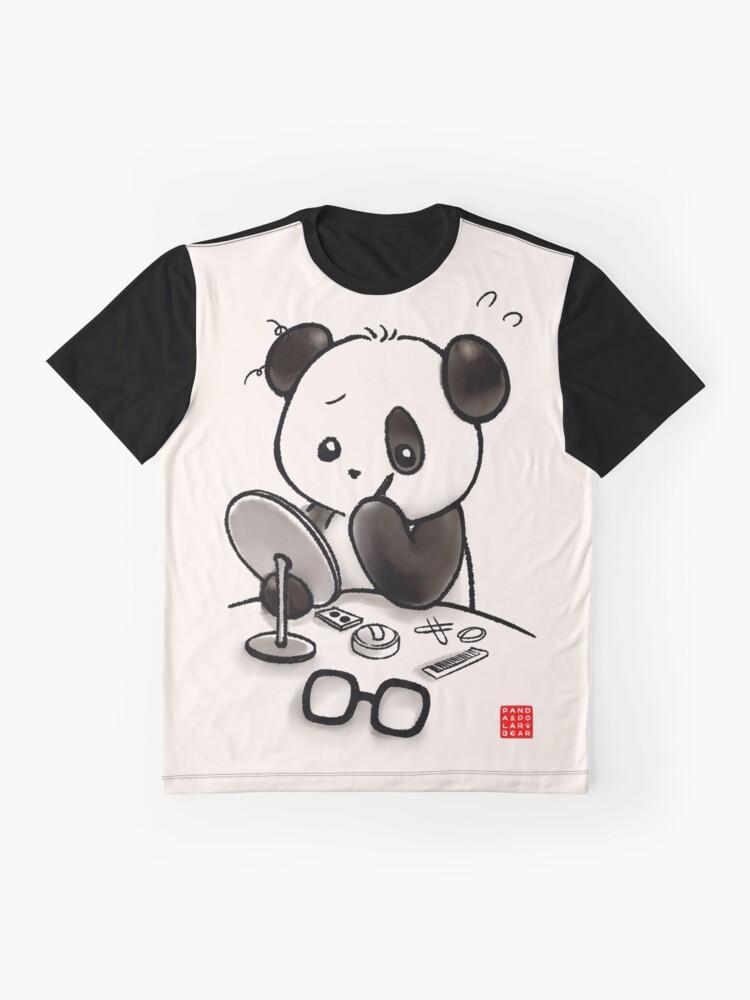 Alternate view of Panda Makeup Graphic T-Shirt