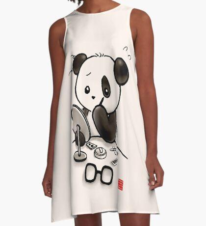 Panda Makeup A-Line Dress
