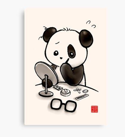 Panda Makeup Canvas Print