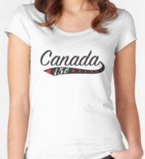 Canada Swoosh 150 Women's Fitted Scoop T-Shirt