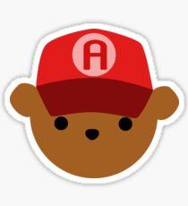 ABC Bear Letter A Sticker