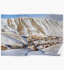 Village in winter (Afghanistan) Poster