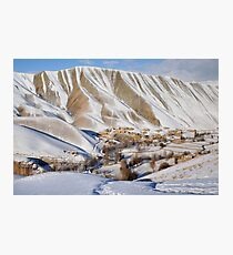 Village in winter (Afghanistan) Photographic Print