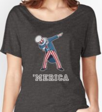 Merica - Dabbing Uncle Sam - Funny 4th of July Party shirt Women's Relaxed Fit T-Shirt