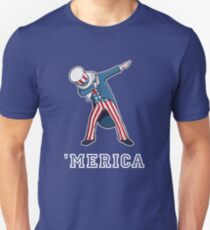 Merica - Dabbing Uncle Sam - Funny 4th of July Party shirt T-Shirt