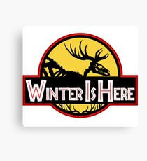 Winter Is Here Jurassic Fury Canvas Print