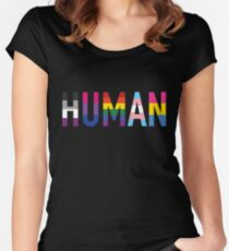 HUMAN Pride Women's Fitted Scoop T-Shirt
