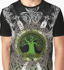 Celtic Tree Illuminated II Graphic T-Shirt