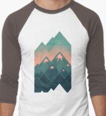 Geometric Mountains Men's Baseball ¾ T-Shirt
