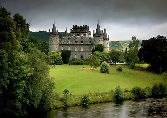 The Castle of  Clan Campbell by Angie Latham