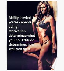 Ability, Motivation and Attitude Poster