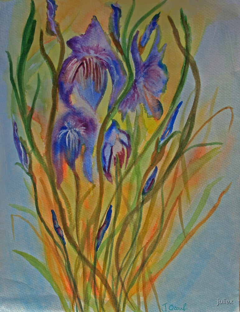 Dancing Irises by juliex
