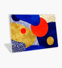 Terrazzo galaxy blue night yellow gold orange Laptop Skin