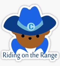 "Cowboy Bear ""Riding on the Range"" Design Sticker"