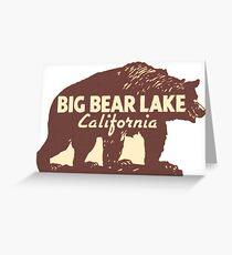 Big Bear Lake California Vintage Travel Decal Greeting Card