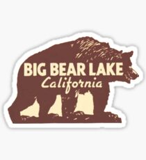 Big Bear Lake California Vintage Travel Decal Sticker