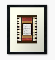 Piano keys with sheet music by Kristie Hubler Framed Print