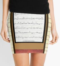 Piano keys with sheet music by Kristie Hubler Mini Skirt