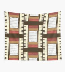 Piano keys with sheet music by Kristie Hubler Wall Tapestry