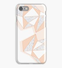 Geometric Nude Color Terrazzo Abstract Design iPhone Case/Skin