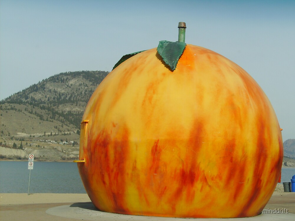 Giant Peach on Okanagan Lake by minddrift