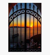 gorgeous sunset in Santorini Photographic Print