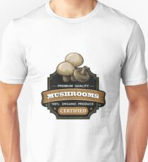 Mushrooms organic certified sticker T-Shirt