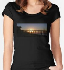 Sunrise Pier Ventura Women's Fitted Scoop T-Shirt
