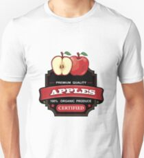 Apples red organic fruit sticker Unisex T-Shirt