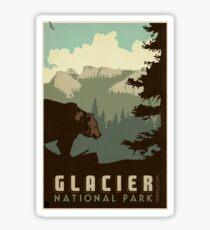 Glacier National Park Vintage Travel Decal Sticker