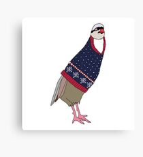 Festive Partridge Canvas Print