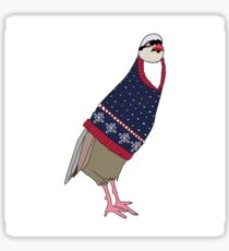 Festive Partridge Sticker