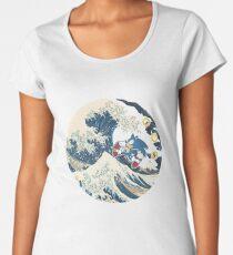 Sonic the Hedgehog - Hokusai Women's Premium T-Shirt