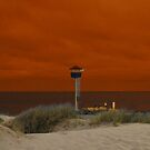 Burnt Evening Sky at the City Beach by Dors
