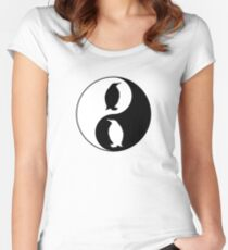 Yin Yang Penguin Women's Fitted Scoop T-Shirt