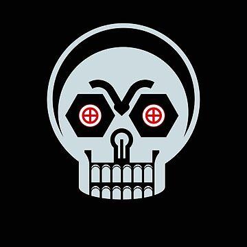 Robot Skull by GabrielMoon