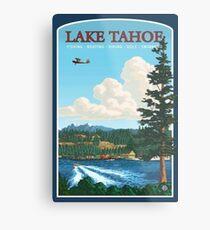 Lake Tahoe Vintage Reise Aufkleber Metallbild