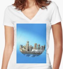 Vancouver Women's Fitted V-Neck T-Shirt