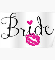 Bride with Lips Poster