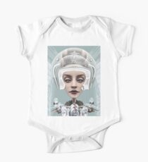 BORN TO BE WILD surreal biker girl and graffiti One Piece - Short Sleeve