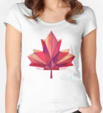 Canada 150 // Warm Women's Fitted Scoop T-Shirt