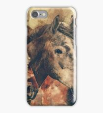 Horses Artistic Watercolor Painting Decorative iPhone Case/Skin