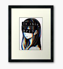 Is this Art Sad japanese aesthetic  Framed Print