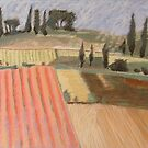 The fields of Tuscany by Colombe  Cambourne