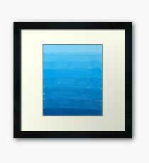 Blue Skies Ombre Framed Print