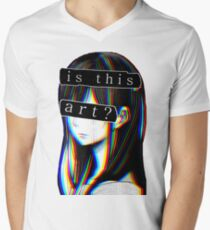 IS THIS ART? SAD JAPANESE AESTHETIC (White border) T-Shirt