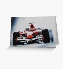 Michael Schumacher, Win 91 Greeting Card